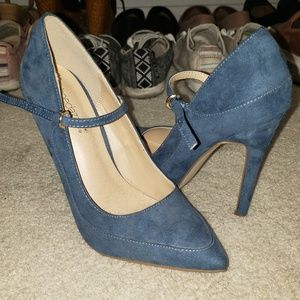Shoedazzle Denim high heels